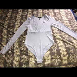 Light blue bodysuit very good condition